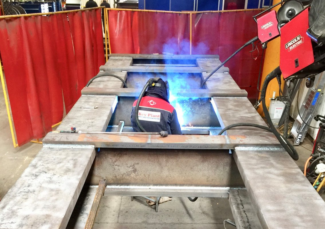 Fabrication on-site weld shop