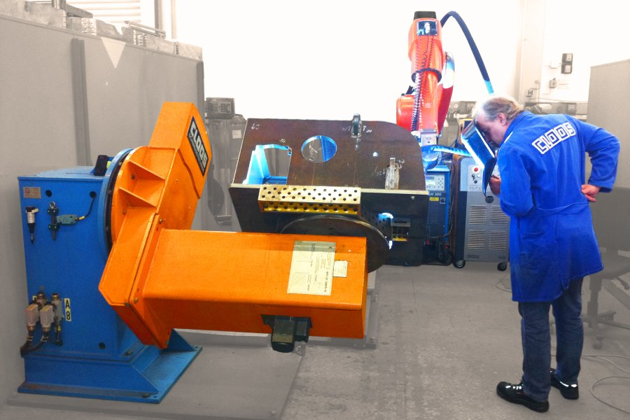 Robot welding Cloos & Key Plant collaboration